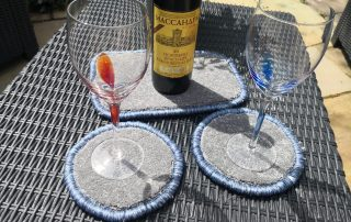 Whipped coasters and mat